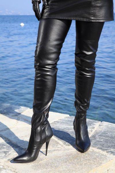 Extralanger Overknee Stiefel
