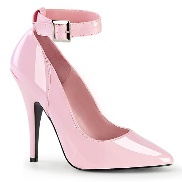 Klassische Lack High Heels mit Fesselriemchen baby pink SEDUCE-431