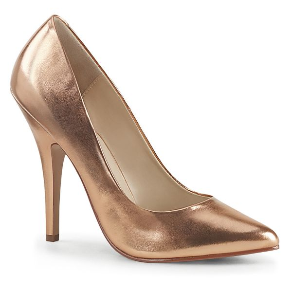 Klassischer High Heel Kunstleder Pumps in rose gold SEDUCE-420