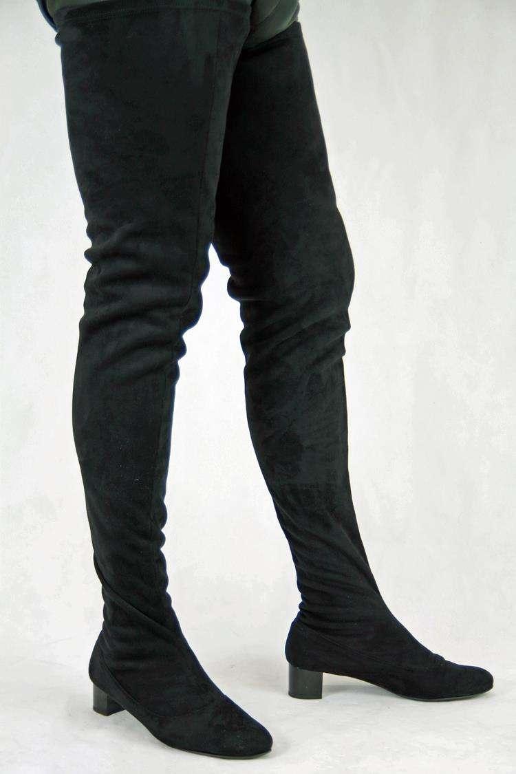 Schrittlanger Stiefel im Stil der 60er Jahre Reißverschluss