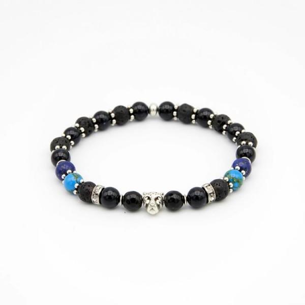 Herren Perlen Armband mit Jade Perlen