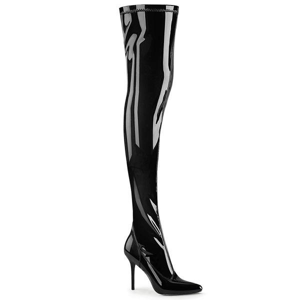 Overknee Stiefel CLASSIQUE-3000 Stretchlack schwarz