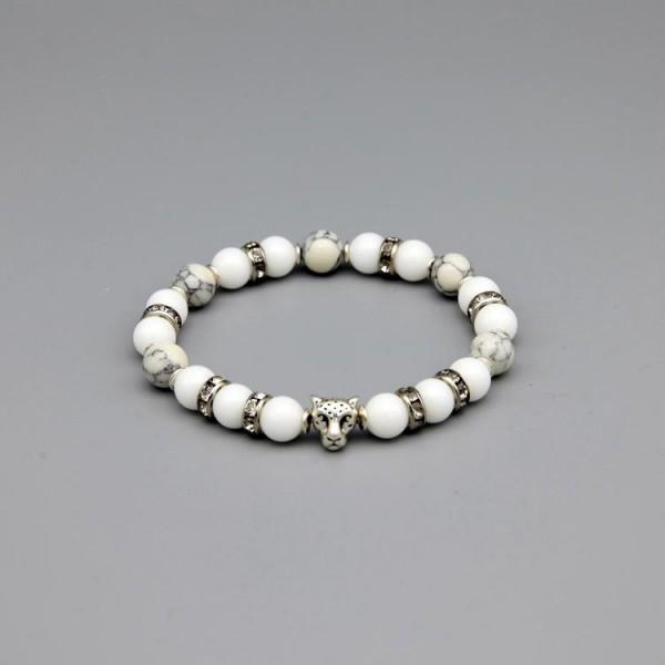 Damen Armband mit Jade Perlen und Strass
