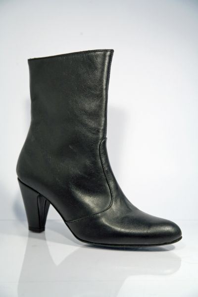 Italienische Stiefelette schwarz Leder Kollektion - MICELI - Made in Italy