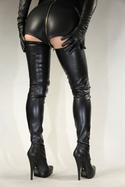 Extralanger Overknee Stiefel mit Plateau MICELI-Made in Italy
