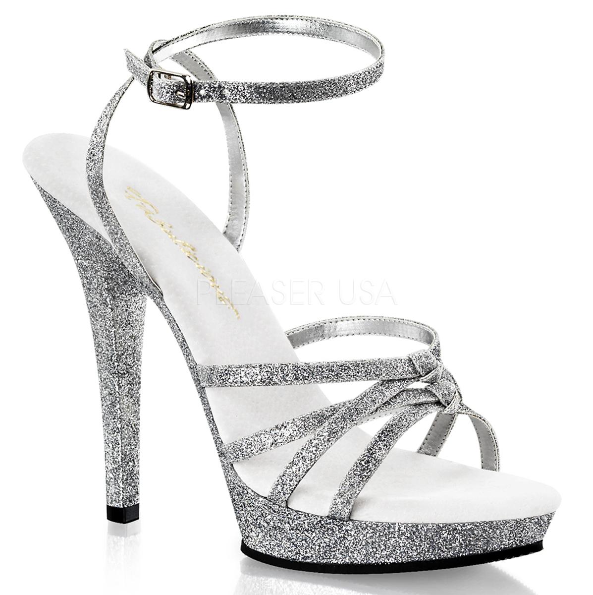 lip 128 sandalette silber glitter mit fesselriemchen. Black Bedroom Furniture Sets. Home Design Ideas