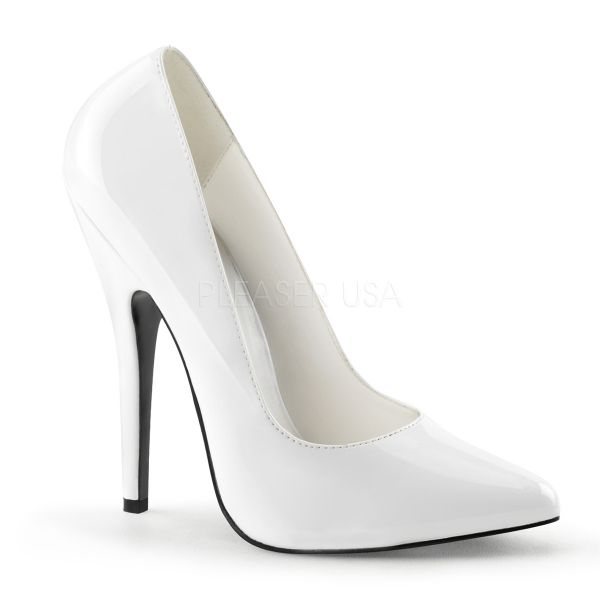stiletto high heels domina 420 weiss lack devious. Black Bedroom Furniture Sets. Home Design Ideas