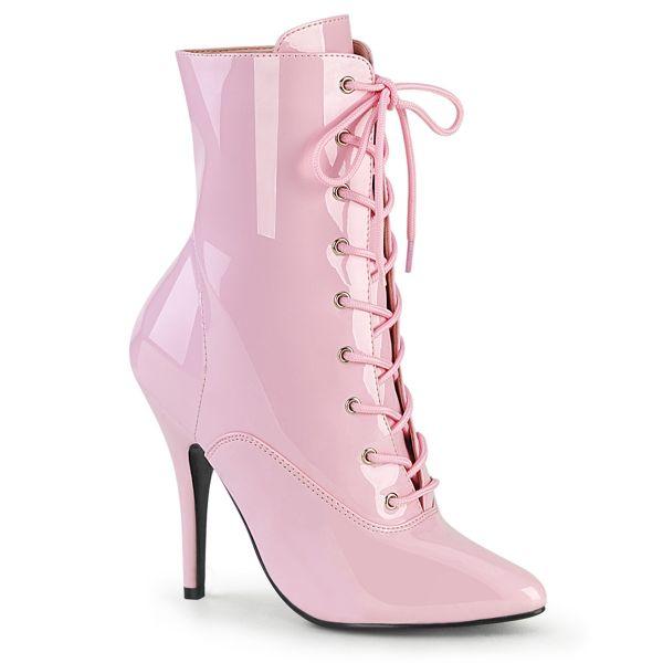 Klassische High-Heel Lack Stiefeletten mit Schnürung SEDUCE-1020