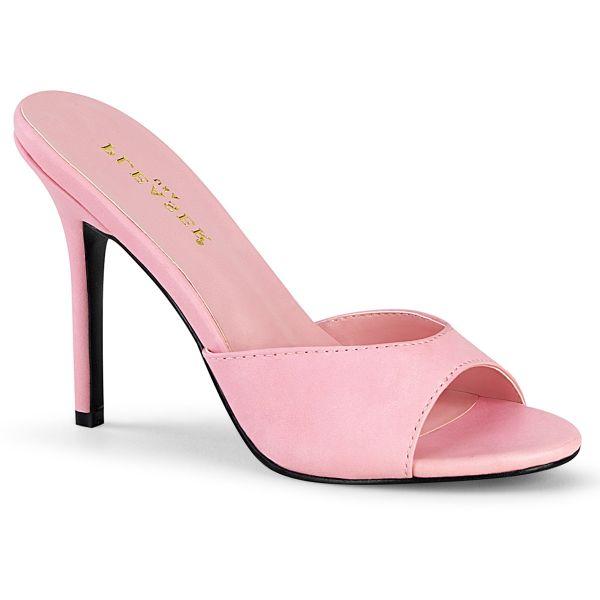 CLASSIQUE-01 High Heel Lack Pantolette baby pink