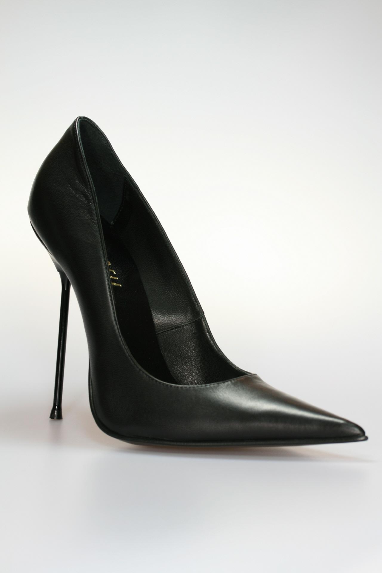 13 cm Schwarz Kunstleder Damen Slingpumps Übergrößen 43-48 High Heels ca