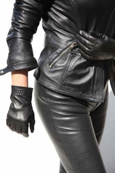 Exklusive kurze Lederhandschuhe - MICELI - Made in Italy
