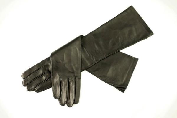 Ellenbogenlange Lederhandschuhe für Herren Made in Italy