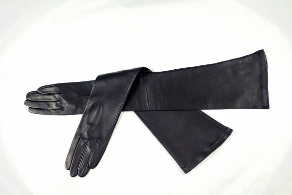 Ellenbogenlange Lederhandschuhe für Damen Made in Italy