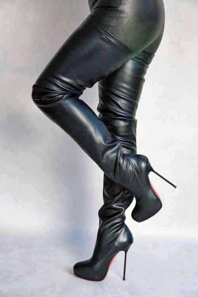 Extralanger High Heel Overknee Stiefel in 2019 | Overknee