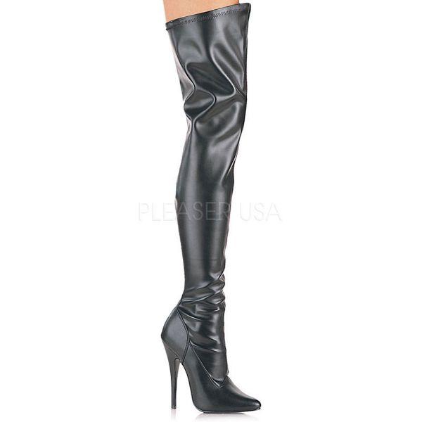 Overknee Stiefel DOMINA-3000 Stretchkunstleder schwarz