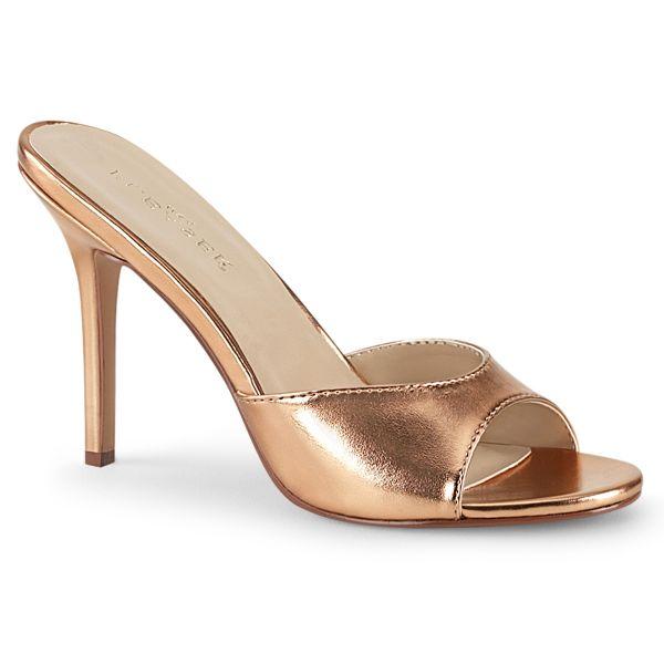 CLASSIQUE-01 High-Heel Pantolette rose gold PU