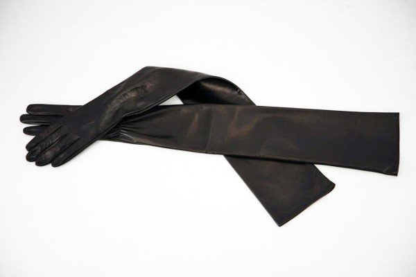 80 cm lange Lederhandschuhe ungefüttert MICELI - Made in Italy