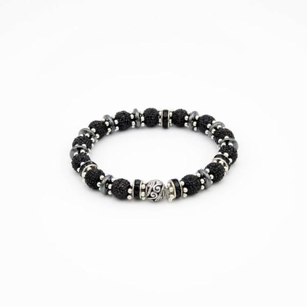 Damen Armband mit runden Sparkling Beads