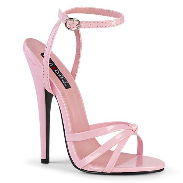 High-Heel Riemchen-Sandalette baby pink Lack DOMINA-108