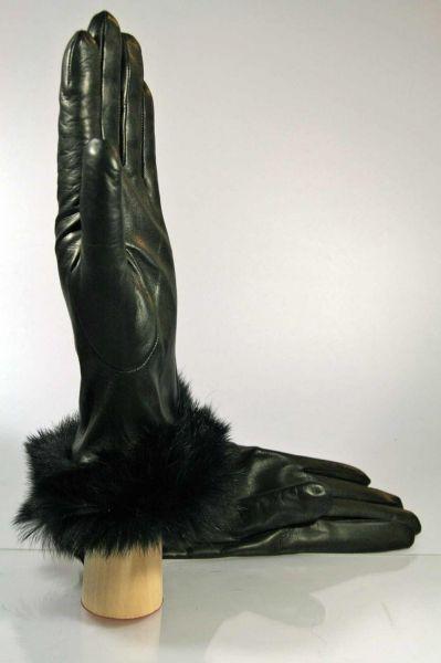 Lederhandschuhe mit echtem Fell