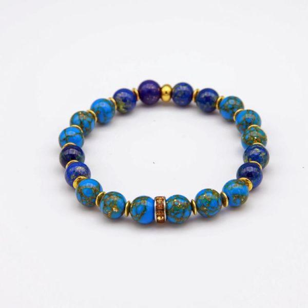 Perlen Armband mit Jade Natursteinen
